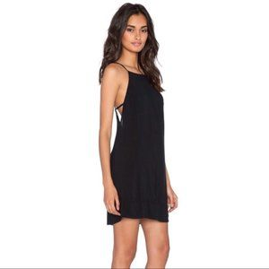Black Free People Sheila's Side by Side Slip Dress